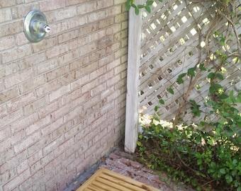"24"" x 24"" Wooden Outdoor Shower Deck"