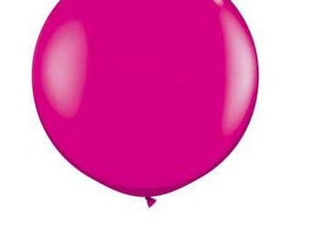 """36"""" Round Solid HOT PINK Color Balloon"""