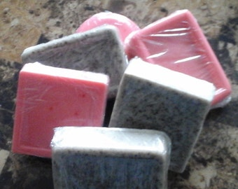 Various body care items. Home made soaps, body butters,and lip balms.