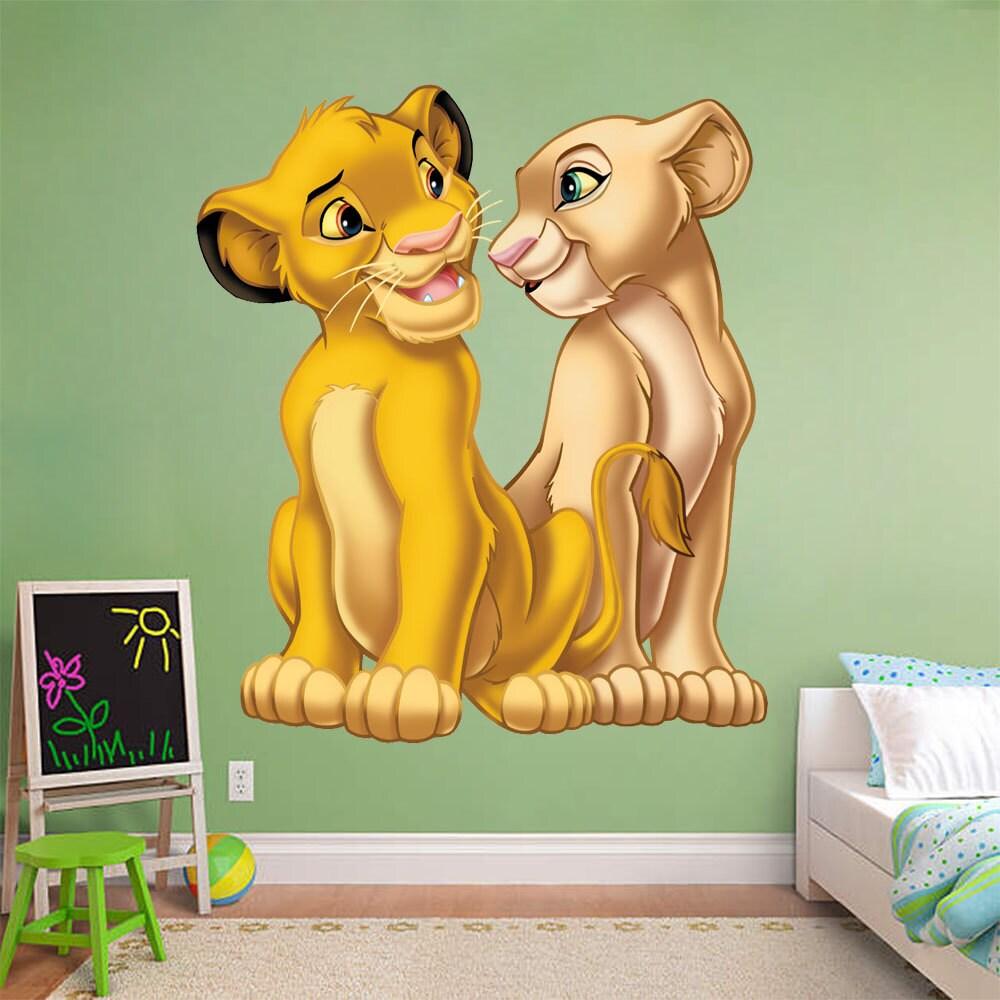 lion king wall sticker simba nala decal disney removable home zoom