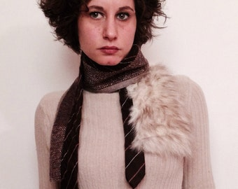scarf tie coat