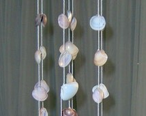 Natural Seashells wind chime – Crochet top - Hanging/Mobile Shells - Handmade Home Decor - Mediterranean Seashells - Cyprus