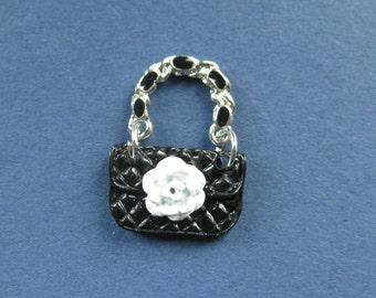 5 Handbag Charms - Handbag Pendant -  Purse Charm - Purse Pendant - Enamel - 23mm x 16mm  --(No.71-10410)
