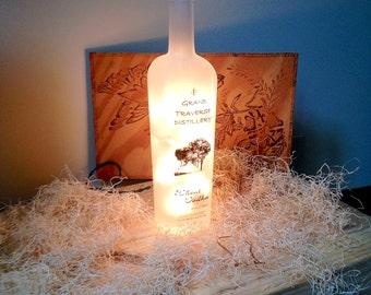 Michigan Liquor Bottle Lamp