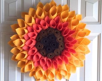 Sunflower Door or Wall Decor - Summer Wreath - Sunflower Wreath - Fall Wreath - Fall Door Decor - Sunflower Decor - Fall Decor