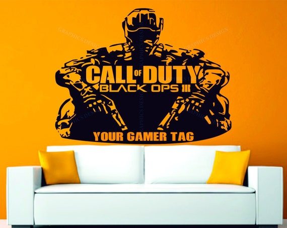 Call of duty black ops 3 personalised gamer tag by for Black ops 3 decorations