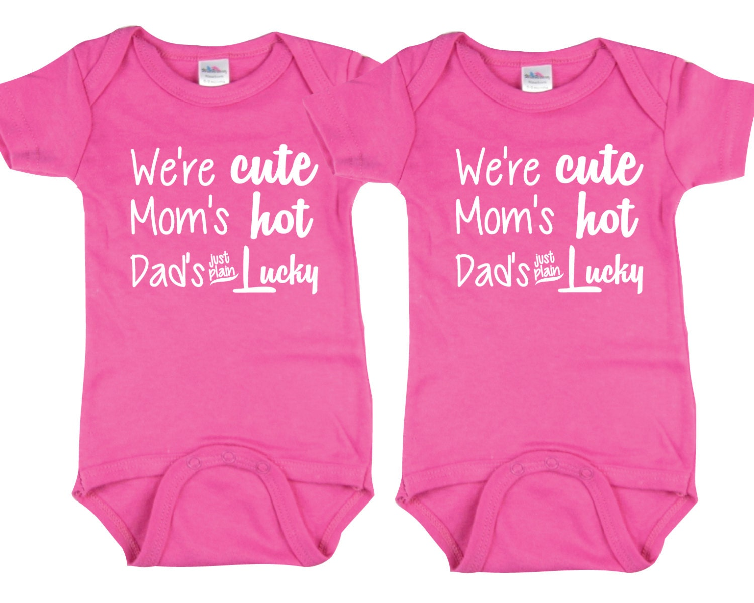 cute baby gift for twin girls we're cute mom's hot  etsy, Baby shower