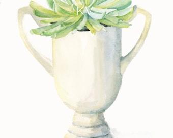 Modern Botanical, 8 x 10 Watercolor Art Print