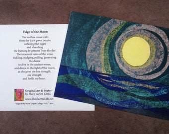 Fine Art Notecard - Edge of the Moon