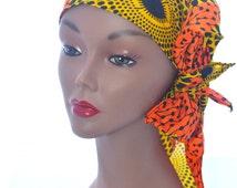 African Scarf Tribal Print Women's HeadWrap Scarf - Fabric Head Wrap Bandana Head Scarf Pin Up headwrap, Ankara Scarf, Ankara Headwrap PinUp