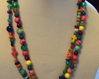 Wonderful Day of the Dead Necklace