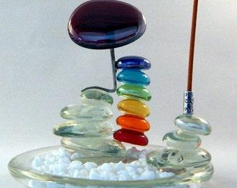 incense holder, incense burner, balance stack, seven chakra incense, meditation incense, metaphysical incense, peace, calming, feng shui