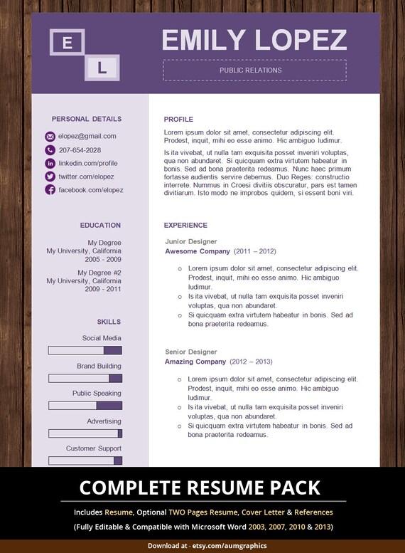resume template creative modern professional resume ms