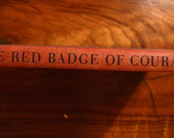 The Red Badge of Courage - Stephen Crane (1944) illustrated red & blue large print