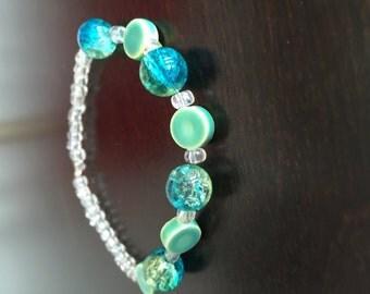 Colorful green bracelet