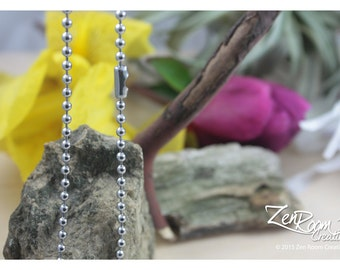 """18"""" 3.2mm Stainless Steel Ball Chain"""
