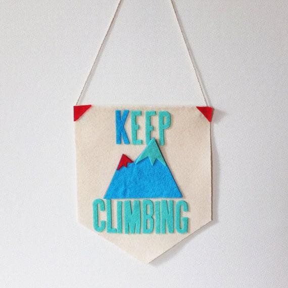 Keep Climbing Motivational Banner