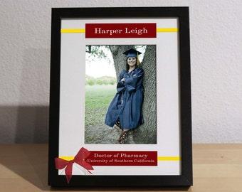 College Graduation Gift, Graduation Gift, Personalized Frame, Custom Frame, Congratulations Graduate, Doctorate Graduation, Masters Grad