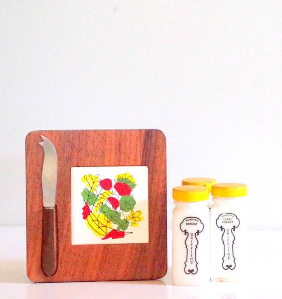 Hanging Magnetic Cheese Board With Knife By Chapterthreevintage