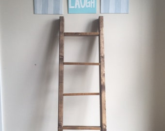 Rustic Ladder, Ladder, Wooden Ladder, Blanket Ladder, Quilt Rack, Quilt Ladder, 4 feet