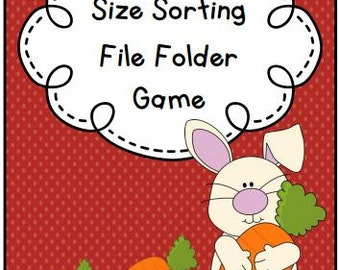 Food Size Sorting File Folder Game