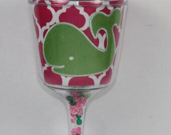 Whale Acrylic Wine Glass