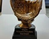 Personalized Baseball Holder Trophy - Engraved FREE