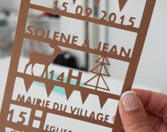 Faire - Part laser cutting + envelope - Min 15