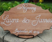 Our beginning sign / wedding sign / anniversary / custom design