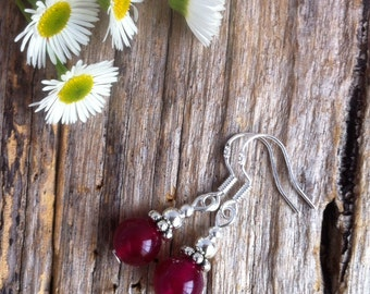Rose Alexandrite Gemstone Earrings