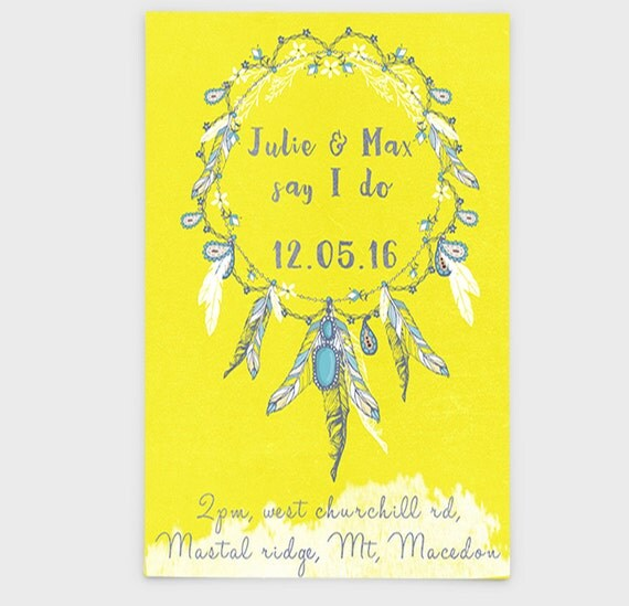 Native American Wedding Invitations: Items Similar To Printable Native American Indian
