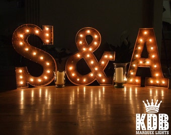 """Lighted Letters with Ampersand (&) Marquee Sign - 24"""" High"""