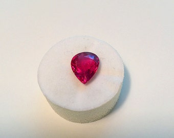 Rubellite.  Beautiful 3.03ct. Natural Rubellite Tourmaline 11 x 9mm. Pear Loose Gemstone