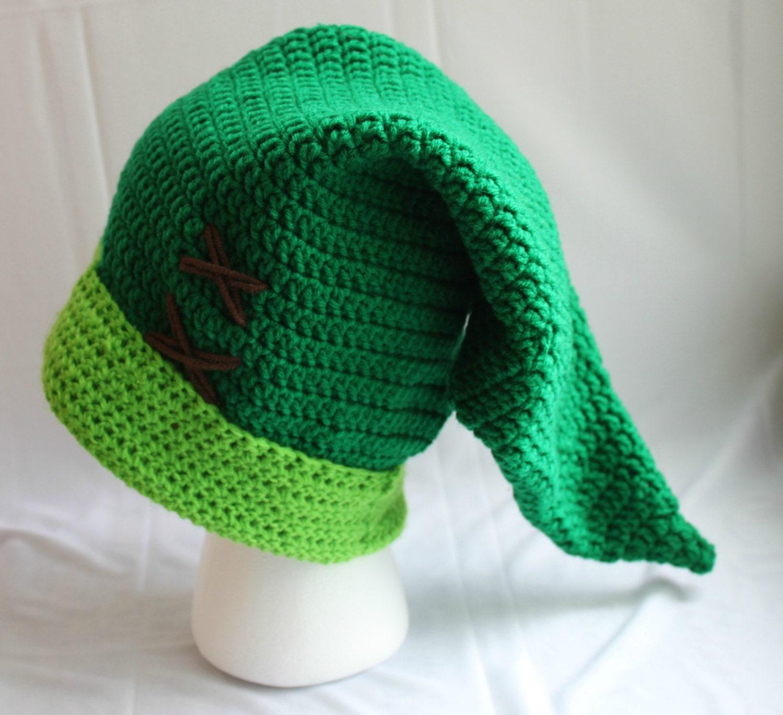 Legend Of Zelda Link Hat Knitting Pattern : Crochet Link Hat The Legend of Zelda Inspired by LoopingFibers