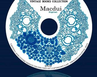 Lace Patterns,Bobbin Lace,Pillow Lace – Vintage e-books 6 Volumes PDF on 1 DVD,Venetian,Milanese,Genoese,guipure,Flemish,Honiton,duchesse