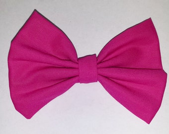 Molly Hair Bow - Pink Hair Bow with Clip