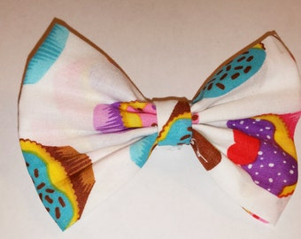 Cupcake Hair Bow with Clip