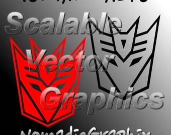 Transformers Decepticons - 2 Vector Designs - Cut Files - SVG / DXF / EPS