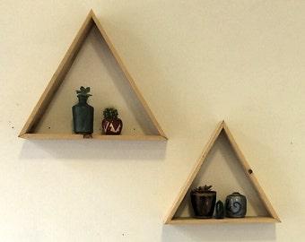 Custom Cedar Shadow Box Triangles