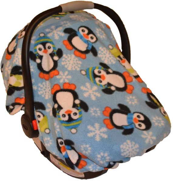 penguin design baby carrier cozy cover up for infant car seats. Black Bedroom Furniture Sets. Home Design Ideas