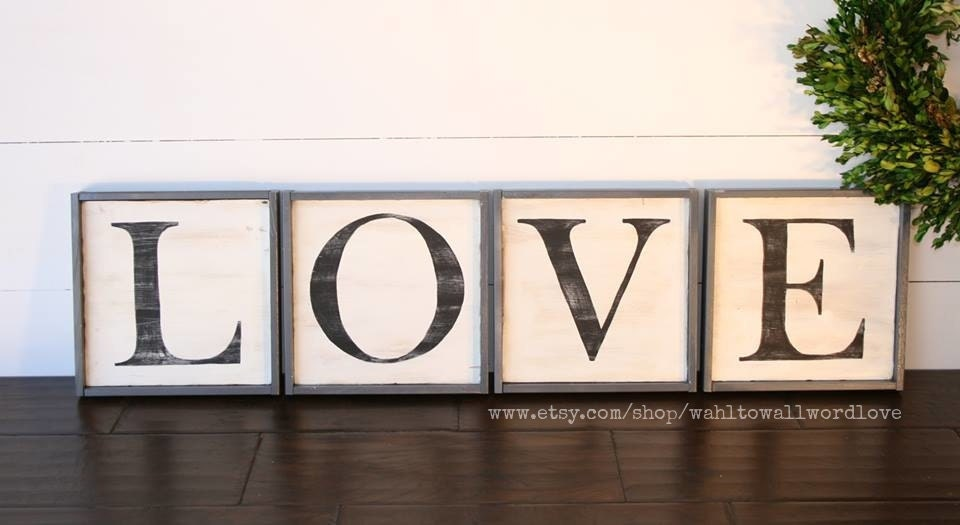 LOVE Letter Signs Distressed Wood Love Signs Love Sign