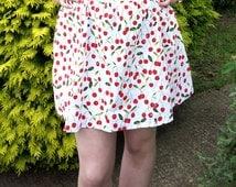 Cherry skirt, skater skirt, flare skirt,Retro skirt, mini skirt, vintage skirt, short skirt,