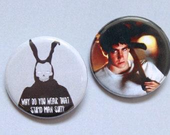 Donnie Darko Pinback Buttons 1 1/4 Inch