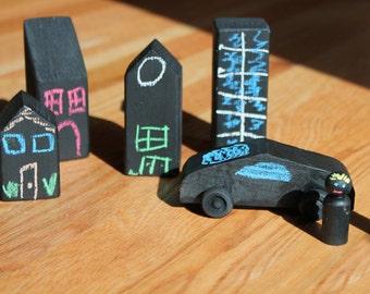 Chalkboard City Blocks