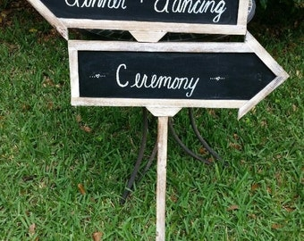 Wood Arrow Chalkboard Sign