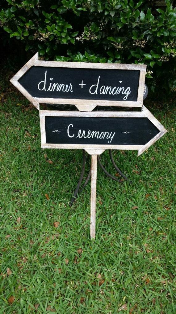 Rustic Wood Frame Arrow Chalkboard Signs, Set of 3 ...  |Chalkboard Arrow Sign Plant