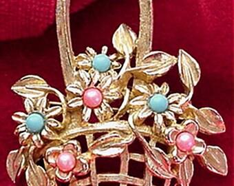 Basket of Flowers Brooch