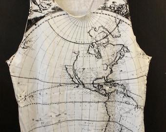 World Map Tanktop Earth shirt