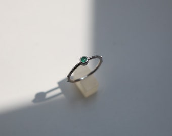 Emerald rosary ring, Emerald birthstone ring, Rumino emerald rosario ring, Emerald Ring,