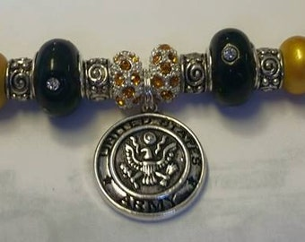 Army Military Charm Bracelets